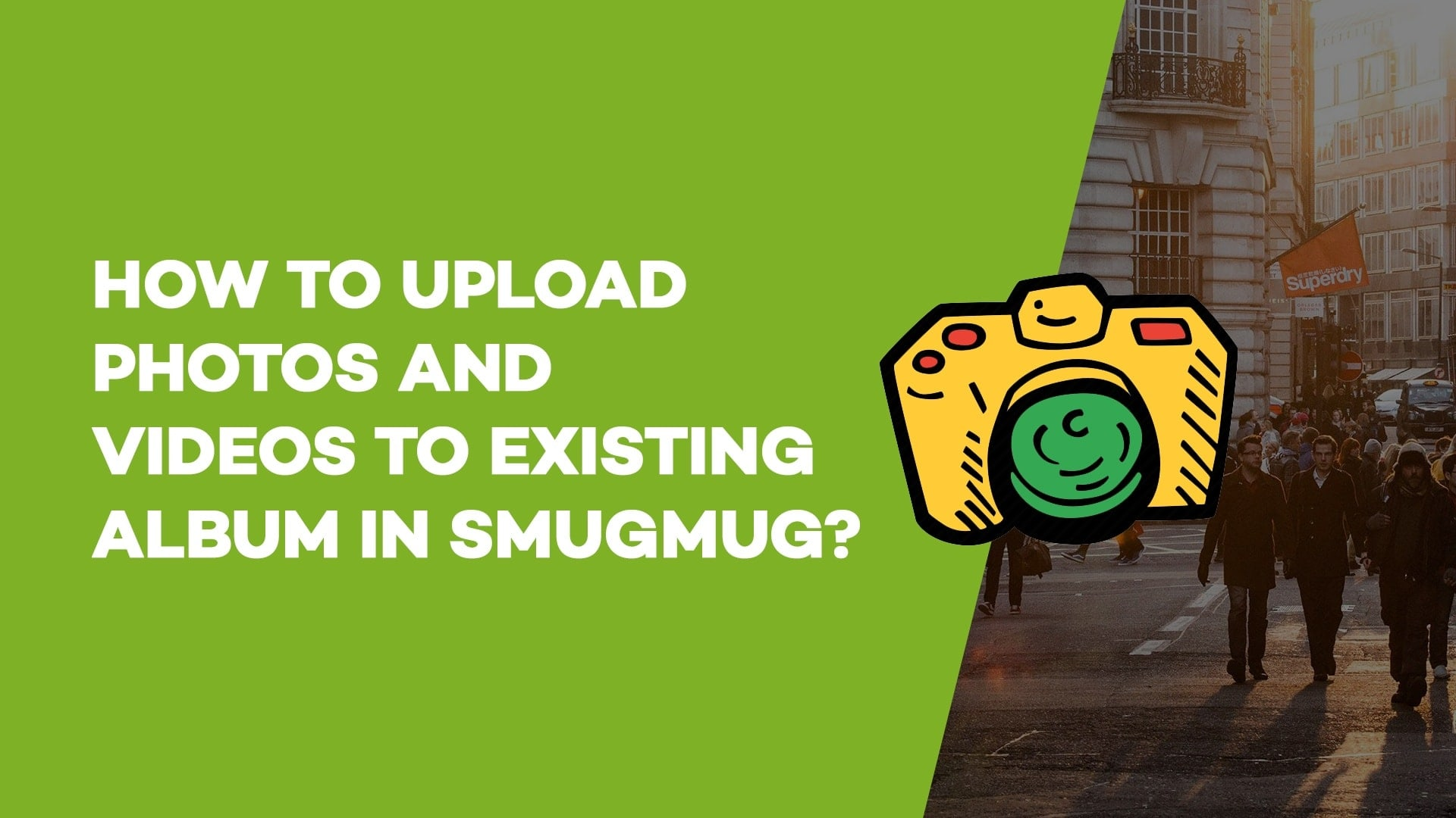 How to upload photos and videos to existing album in SmugMug?